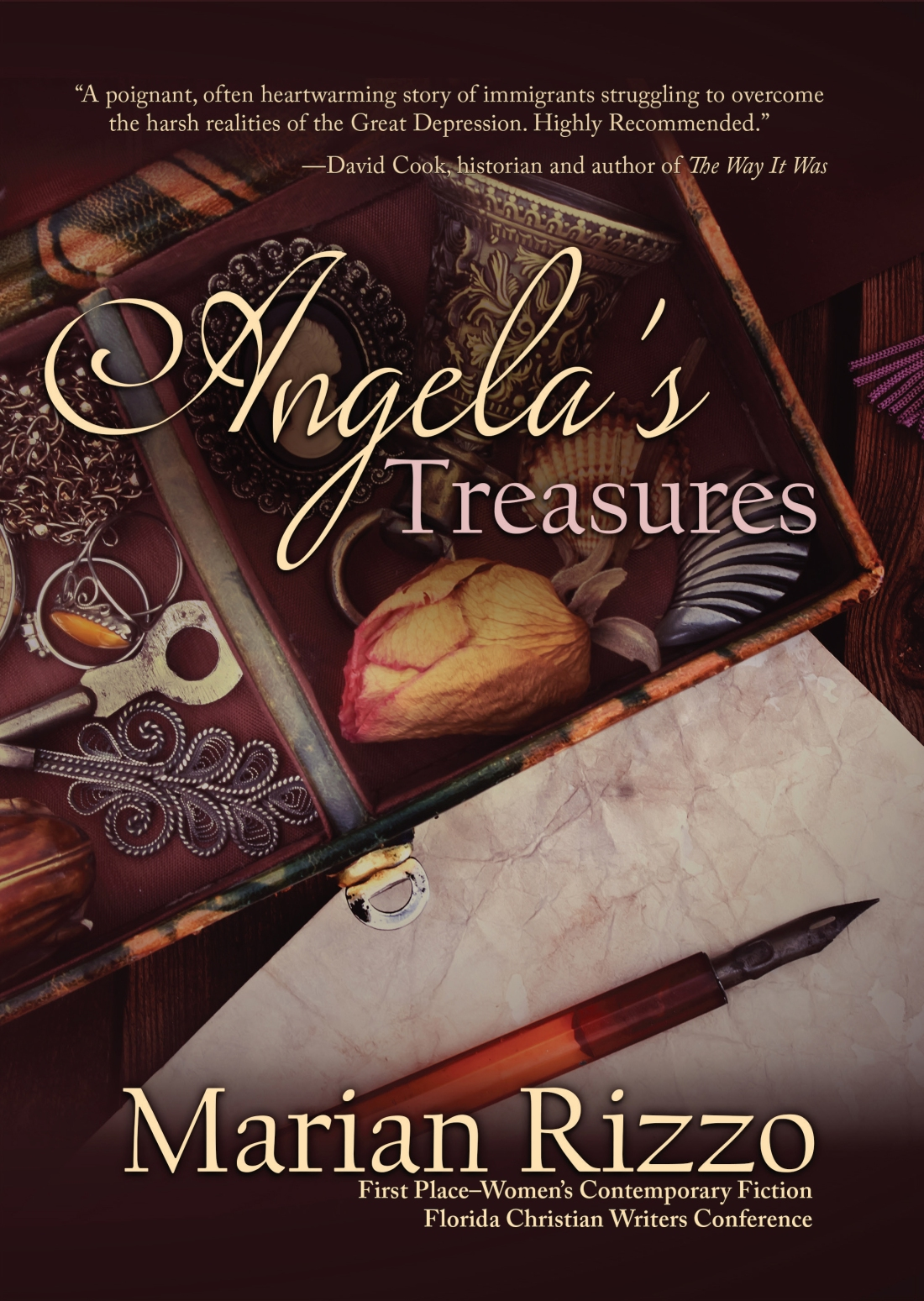 Angela's Treasures cover hardback.indd